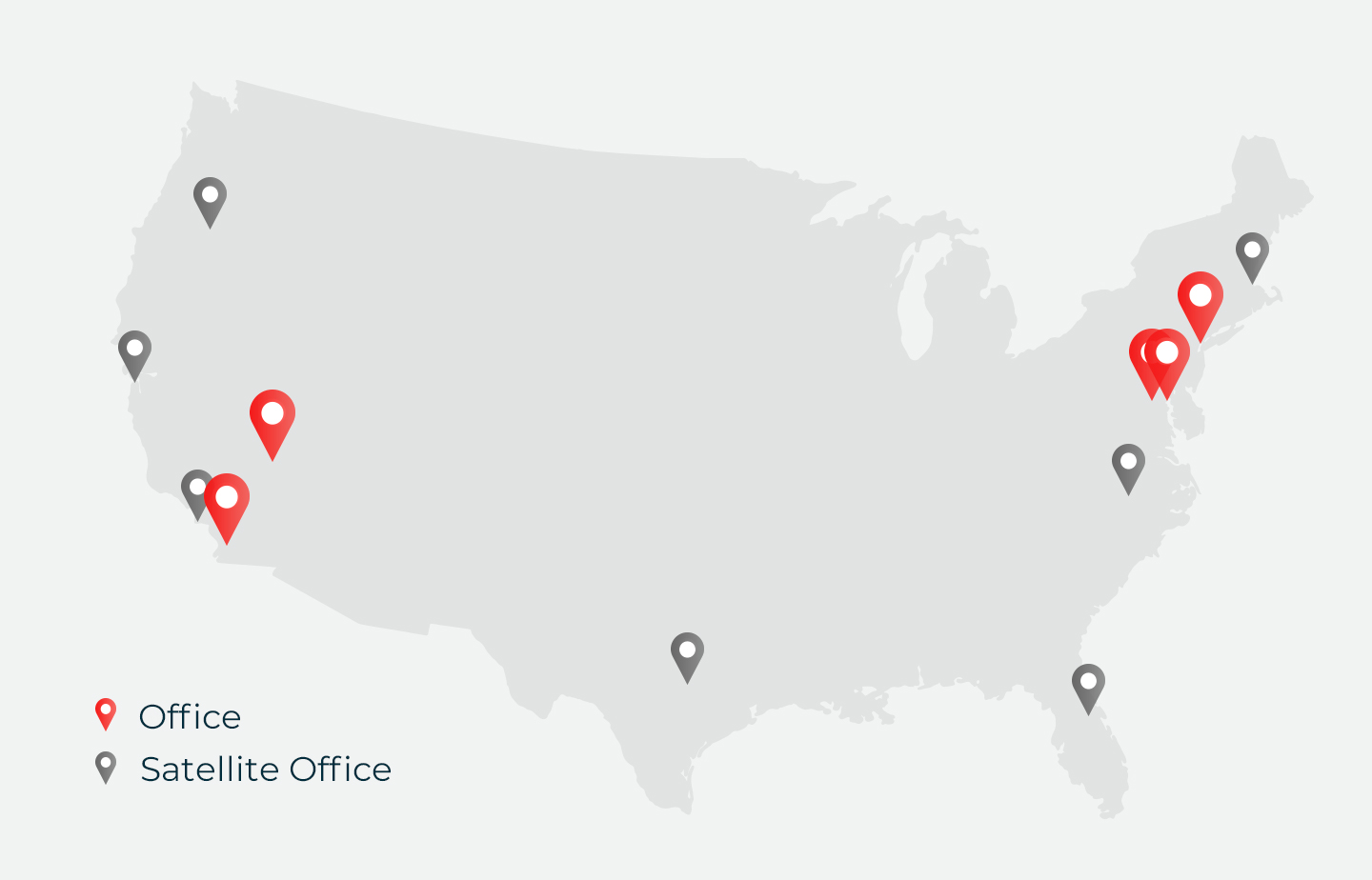 Office Locations Map