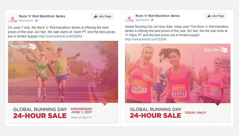 REQ Rock n Roll Marathon Social Advertisement