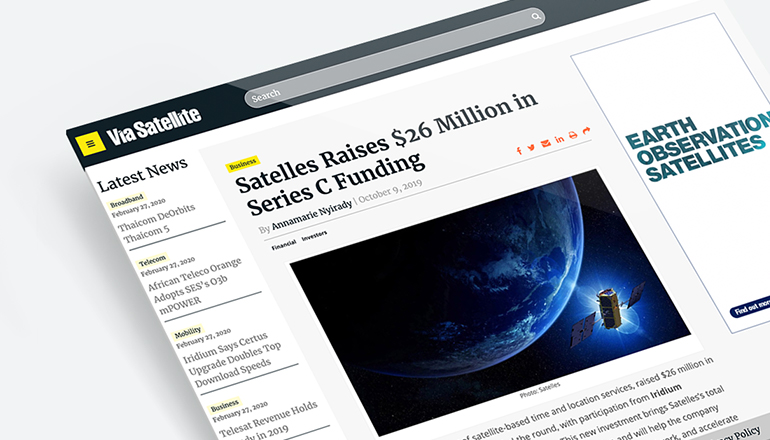 REQ Satelles Funding Announcement Media Relations