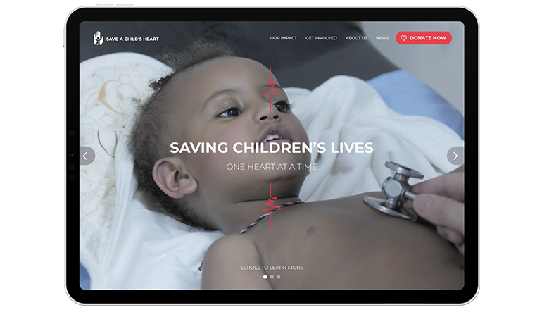 REQ Save a Child's Heart Tablet Website Redesign