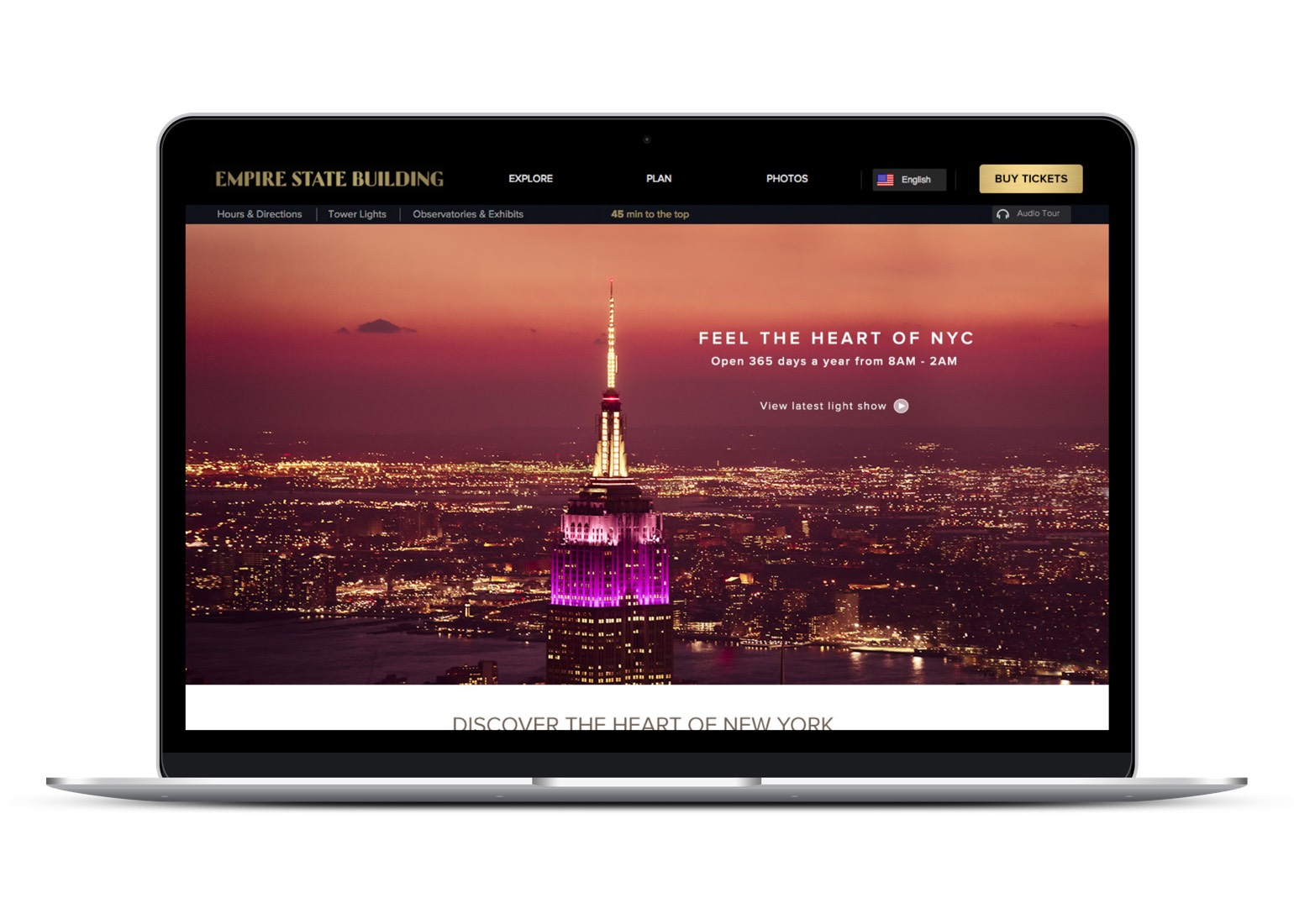 REQ Empire State Building Website Laptop