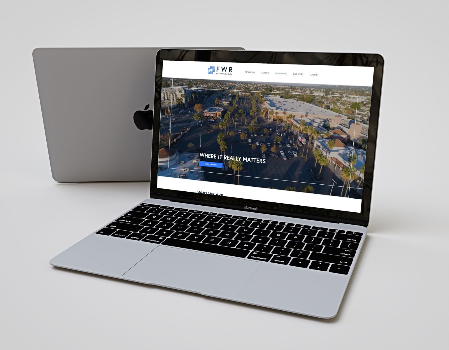 REQ First Washington Realty Website Laptop