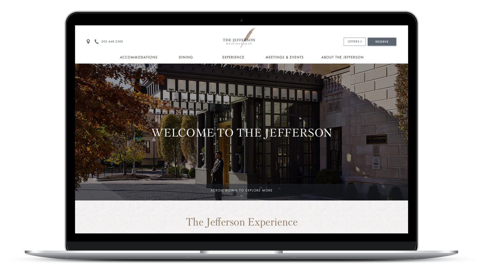REQ Jefferson Hotel DC Website Laptop
