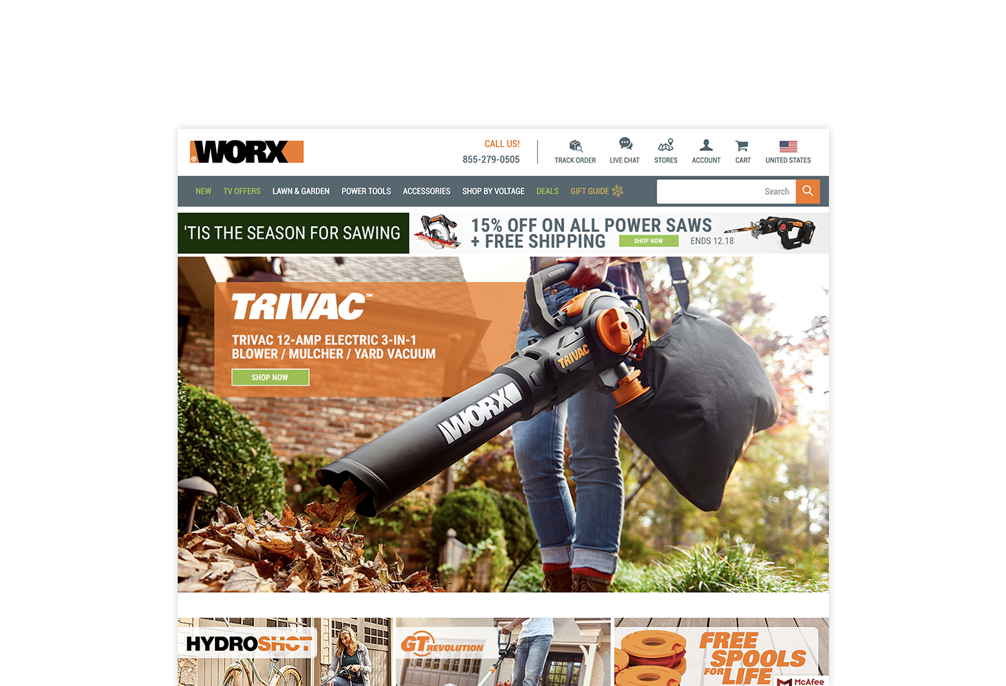 REQ WORX Tools Website Advertising