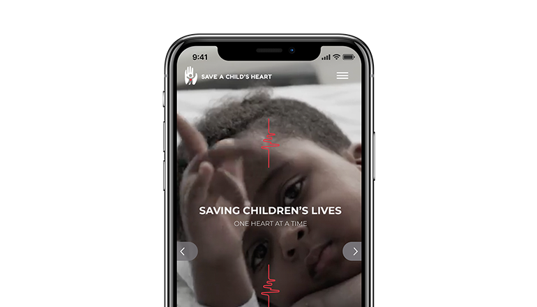 REQ Save a Child's Heat Website on Mobile