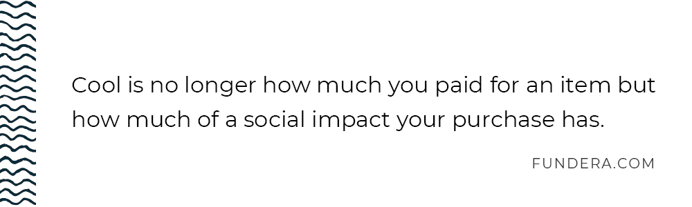 social impact quote from Fundera.com
