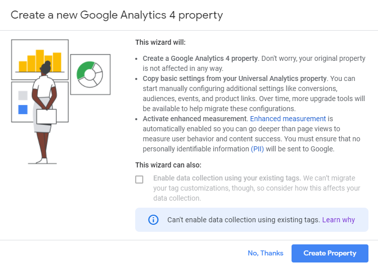Create a new Google Analytics 4 Property