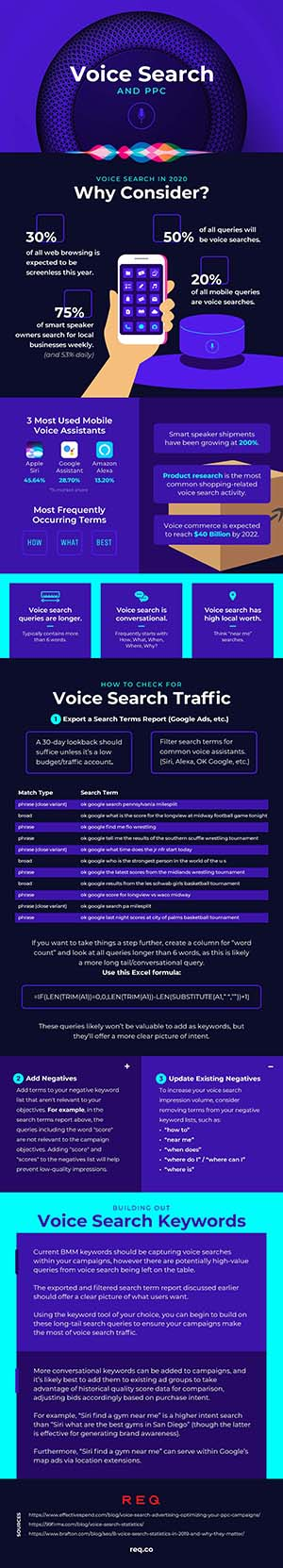 Voice Search & PPC Infographic
