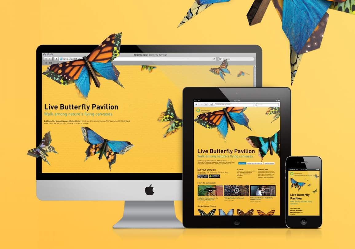 REQ Smithsonian Butterfly Pavilion Website