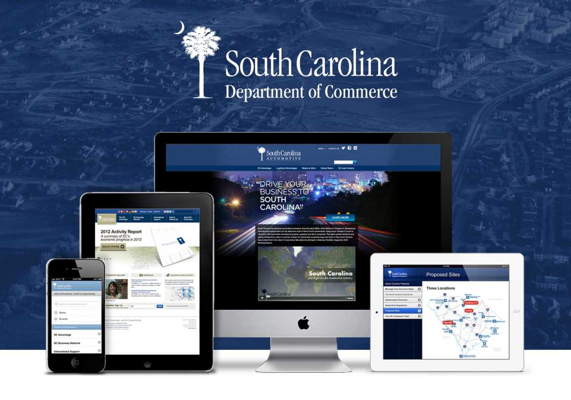 REQ South Carolina Department of Commerce Website