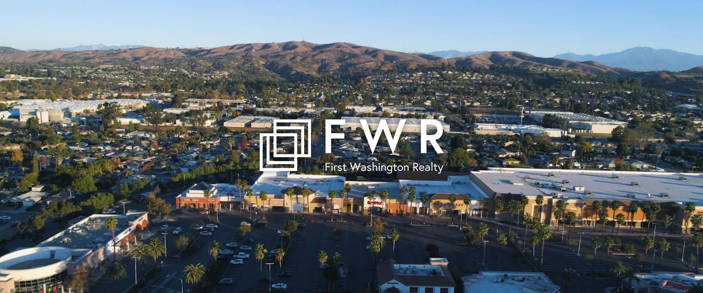 First Washington Realty Hero Image with logo