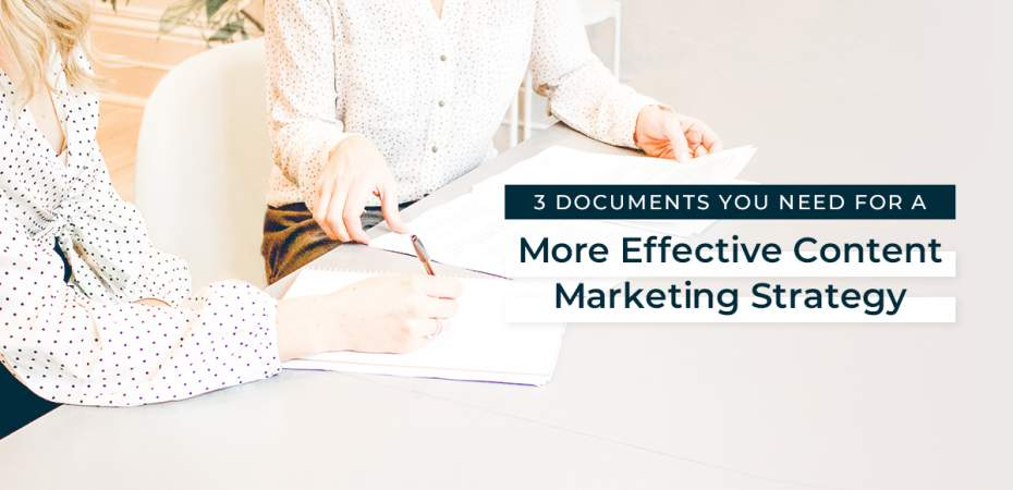 REQ 3 Documents for Content Marketing Strategy