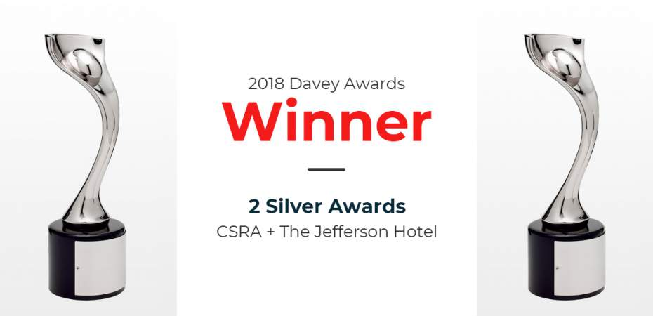 REQ's Work With CSRA and The Jefferson Hotel Wins Davey Awards